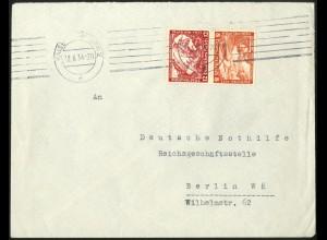 Dt. Reich, SK 20, Einzelfrankatur auf Fern-Brief, Mi.-Handbuch 120,-