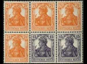 Dt. Reich, HBl. 16 ba, postfrisch, Fotobefund BPP, Mi. für Zd. 800,- (6605)