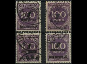 Dt. Reich, Mi. 331 (2x), tadellos gestempelt, Mi. 76,- (6660)