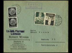 Dt. Reich, K 23, portogerecht auf Fern-Brief, Mi. 50,-