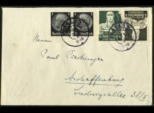 Dt. Reich, K 23, portogerecht auf Fern-Brief, Mi. 50,- (6688)