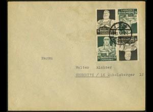 Dt. Reich, K 23 (2), Mehrfachfrankatur auf Orts-Brief, Mi.-Handbuch 55,- (6691)