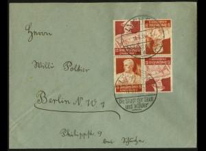 Dt. Reich, K 24 (2), Mehrfachfrankatur auf Fern-Brief, Mi.-Handbuch 55,- (6705)