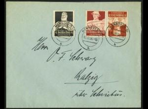 Dt. Reich, K 24, portogerecht auf Fern-Brief, Mi. 50,- (6710)