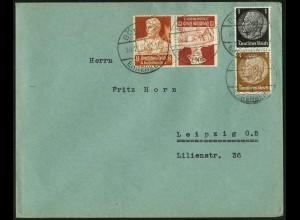 Dt. Reich, K 24, portogerecht auf Fern-Brief, Mi. 50,- (6711)
