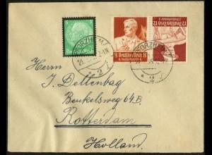 Dt. Reich, K 24, portogerecht auf Auslands-Brief, Mi. 50,- (6720)