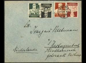 Dt. Reich, K 23 + K 24, auf Auslands-Brief, Mi.-Handbuch 55,- (6919)