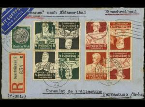 Dt. Reich, K 23 + K 24 (je 2), Saar-Ersttag, Ausland (6923)