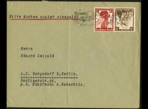 Dt. Reich, K 26, Einzelfrankatur auf Fern-Brief, Vor-Ersttag 29.10.35 !!! (6957)