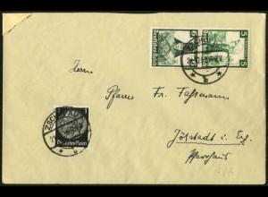 Dt. Reich, S 231, portogerecht auf Fern-Brief, Vor-Ersttag 21.10.35 !!!