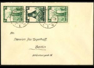 Dt. Reich, S 232, Einzelfrankatur auf Fern-Brief, Vor-Ersttag 2.11.35 !!!