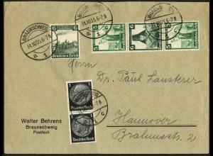 Dt. Reich, S 232, portogerecht auf Fern-Brief, Vor-Ersttag 31.10.35 !!!