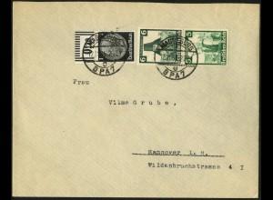 Dt. Reich, S 233, portogerecht auf Fern-Brief, Vor-Ersttag 12.11.35 !!! (6974)