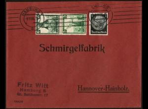 Dt. Reich, S 233, portogerecht auf Fern-Brief, Vor-Ersttag 9.11.35 !!!