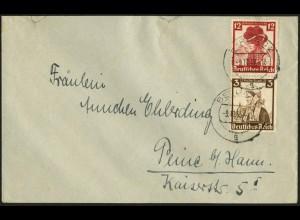Dt. Reich, S 235, Einzelfrankatur auf Fern-Brief, Vor-Ersttag 9.11.35 !!! (6983)