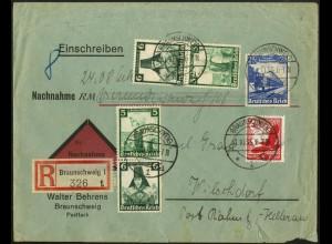 Dt. Reich, S 234, S 231, S 233, NN-R-Brief, Vor-Ersttag 31.10.35 !!!