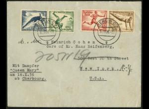 Dt. Reich, Mi. SK 27 + W 109, portogerechter Auslands-Brief, Mi. 66,- (7084)