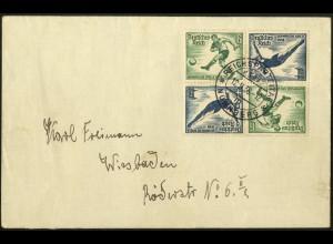 Dt. Reich, Mi. SK 27 (2), Mehrfachfrankatur, Fernbrief, Mi.-Handbuch 65,- (7089)