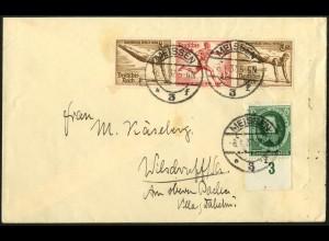 Dt. Reich, Mi. W 108 portogerecht auf Fern-Brief, Mi. 50,- (7192)