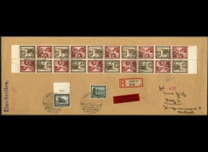 Dt. Reich, Mi. SK 30 (10), portoger. Auslands-Eil-R-Brief, Sondertarif (7538)