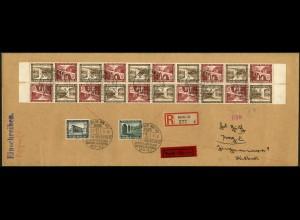 Dt. Reich, Mi. SK 30 (10), portoger. Auslands-Eil-R-Brief (Sondertarif)