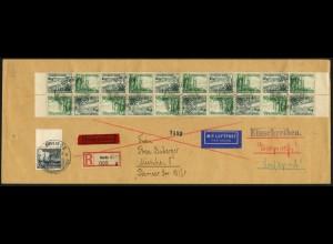 Dt. Reich, Mi. SK 32 (10), portogerechter Luftpost-Eil-R-Brief (7544)