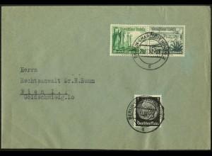 Dt. Reich, Mi. W 125, portogerecht auf Auslands-Brief (Sondertarif) (7601)