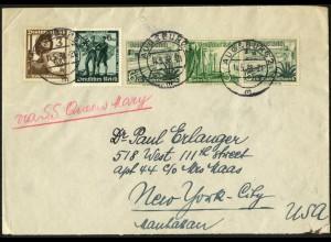 Dt. Reich, Mi. W 124, Auslands-Brief, mit S.S. Queen Mary (7638)