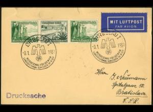 Dt. Reich, Mi. W 126, unterfrankierte EF, Ausl.-Lp.-Drucks. (Sondertarif) (7648)