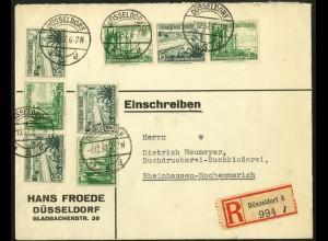 Dt. Reich, Mi. W 126, W 124, W 125, auf R-Brief (7657)