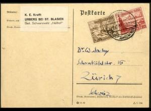 Dt. Reich, Mi. W 131, portogerechte Einzelfrankatur, Mi.-Handbuch 80,- (7671