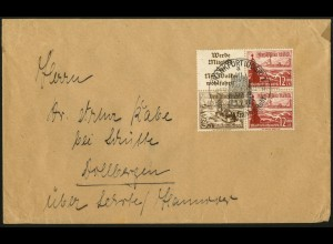 Dt. Reich, Mi. S 244, im Viererblock auf Fern-Brief (7734)