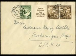 Dt. Reich, Mi. W 135, portogerechter Fern-Brief, Mi. 30,- (7946)