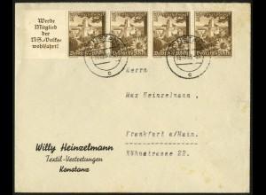 Dt. Reich, Mi. W 135, portogerechter Fern-Brief, Mi. 30,- (7948)