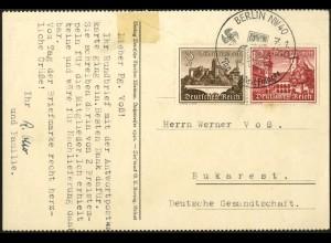 Dt. Reich, Mi. W 144, portogerechte Einzelfrankatur, Mi.-Handbuch 150,- (8004)