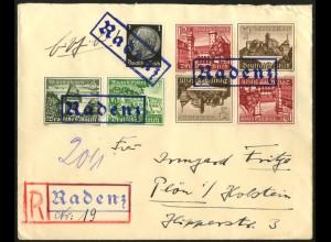 Dt. Reich, Mi. SK 36 (2), W 136, portogercht auf R-Brief (8049)