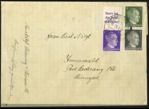 Dt. Reich, Mi. S 282 + S 270, portogerecht auf Landpost-Brief