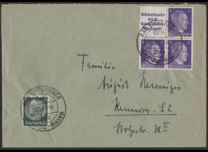 Dt. Reich, Mi. S 286 oder W 155, portogerechter Fern-Brief