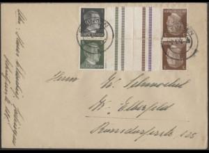 Dt. Reich, Mi. KZ 37 + KZ 38, portogerechter Fern-Brief /8520