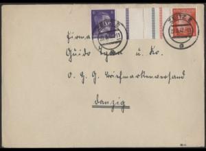 Dt. Reich, Mi. KZ 40, als Einzelfrankatur auf Fern-Brief /8545