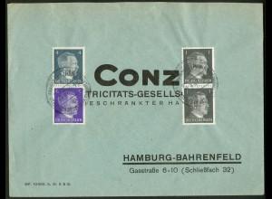 Dt. Reich, Mi. KZ 39 + KZ 40, portogerechter R-Brief /8563