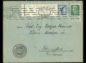 Dt. Reich, RL 15.2, portogerechter Auslands-Brief, Mi. 500,- (8715)