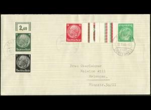 Dt. Reich, Mi. KZ 17, portogerecht auf Landpost-Brief, Mi. 120,- (8724)