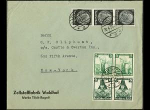 Dt. Reich, Mi. S 231 (2), portogerecht auf Auslands-Brief /8732