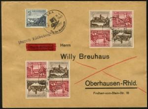 Dt. Reich, Mi. SK 36 (4), portogerecht auf Eil-Brief, Mi. 48,- (8736)