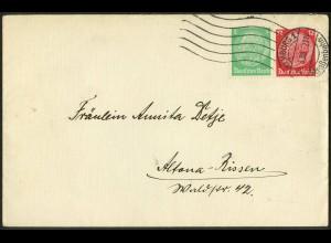 Dt. Reich, Hamburger Straßenbahnpost 1938, portoger. Fern-Brief (8740)