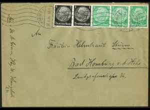 Dt. Reich, Hamburger Straßenbahnpost 1935, portoger. Fern-Brief (8743)
