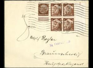 Dt. Reich, Hamburger Straßenbahnpost 1935, auf Fern-Brief (8809)