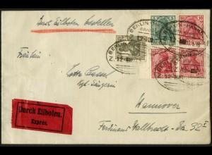 Dt. Reich, Mi. S 4 II aa LR 0, portogerechter, Mi.-Handbuch 140,- ++ (8925)