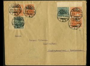 Dt. Reich, Mi. S 3 ab LR 0 + LR 1, portogerecht, Mi.-Handbuch 130,- (8935)